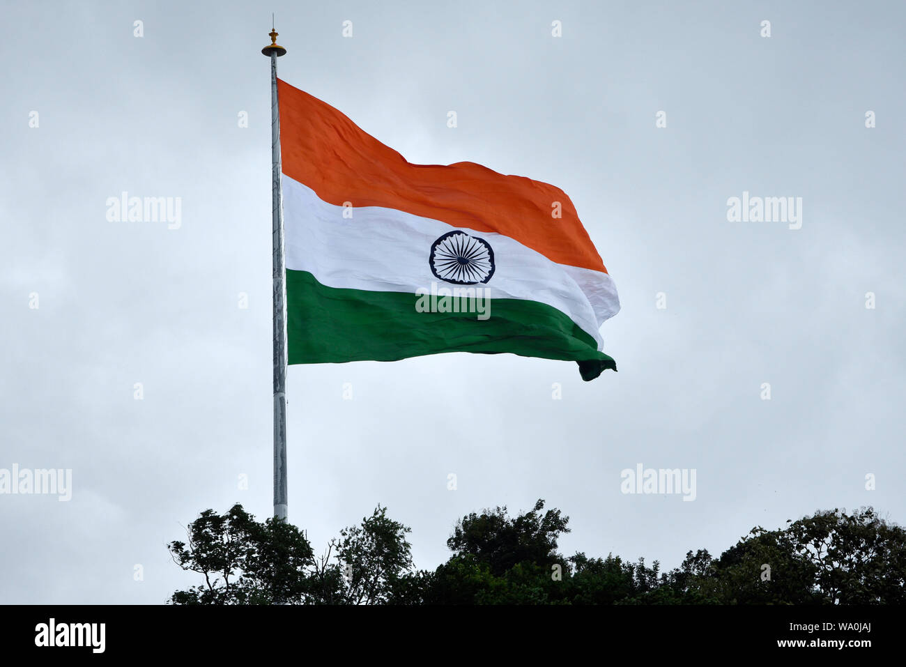 Flying Indian Flag High Resolution Stock Photography And Images Alamy