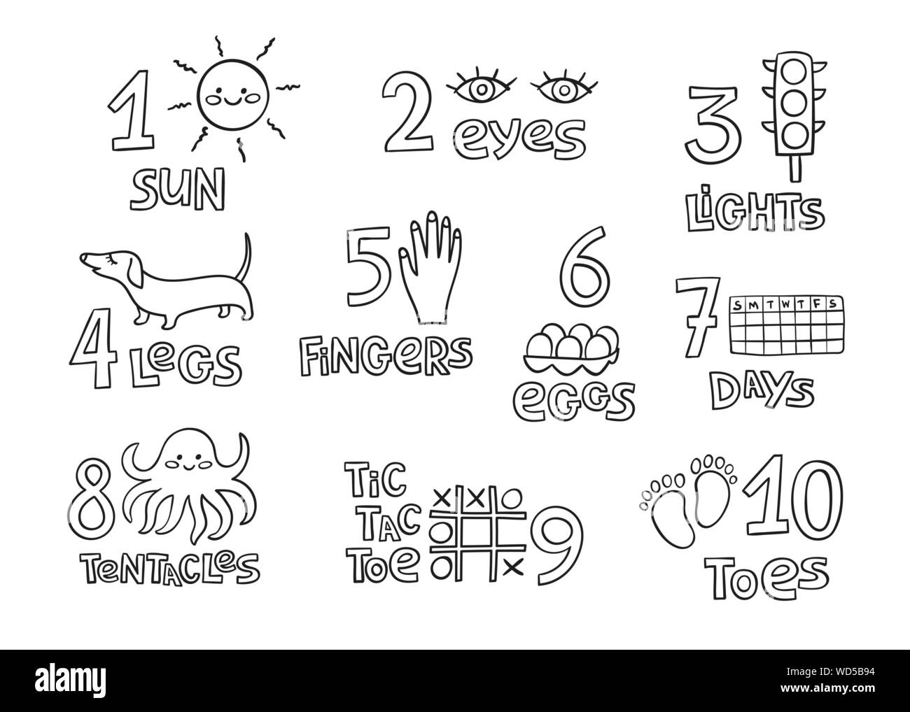 Numbers And Counting Practice Printable Poster Worksheet
