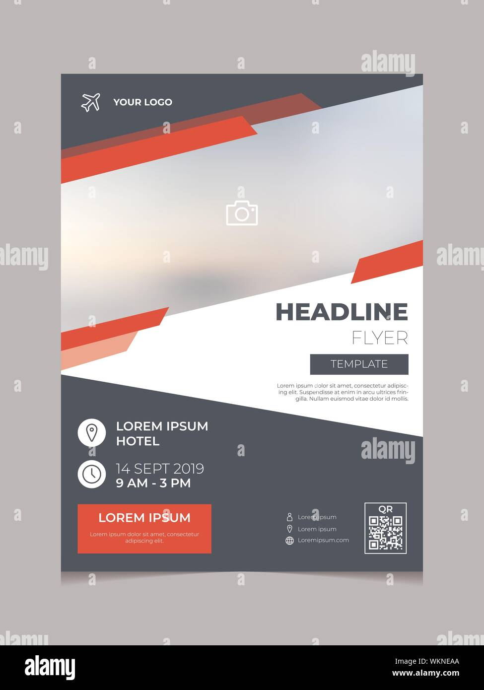 https www alamy com modern business flyer template vector multipurpose brochure template poster design annual report cover design with simple elegant geometric image270306242 html