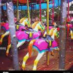 Pink Carousel Horse High Resolution Stock Photography And Images Alamy