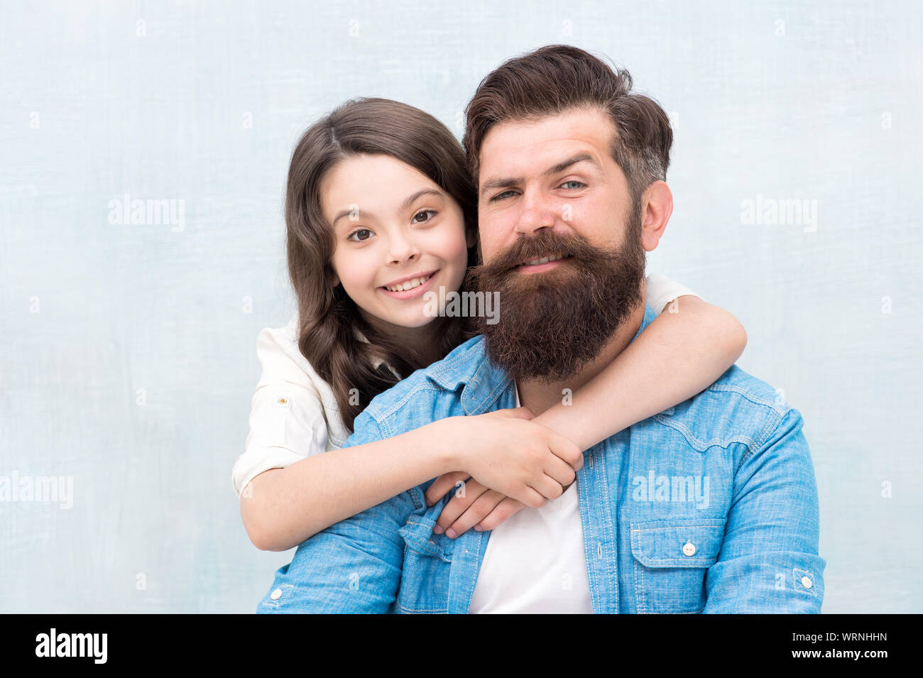 Family Hug Strengthening Father Daughter Relationships Child And Dad Best Friends Friendly Relations Fathers Day Concept Lovely Father And Cute Kid Father And Daughter Hug Light Background Stock Photo Alamy