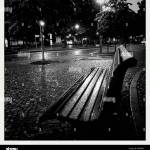 Abandoned Bench In A Park At Night Stock Photo Alamy