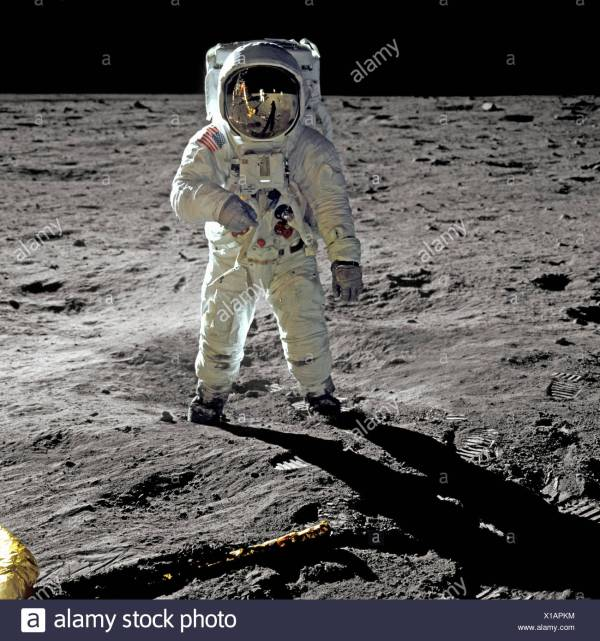 Buzz Aldrin Walks on the Moon During Apollo 11 Mission