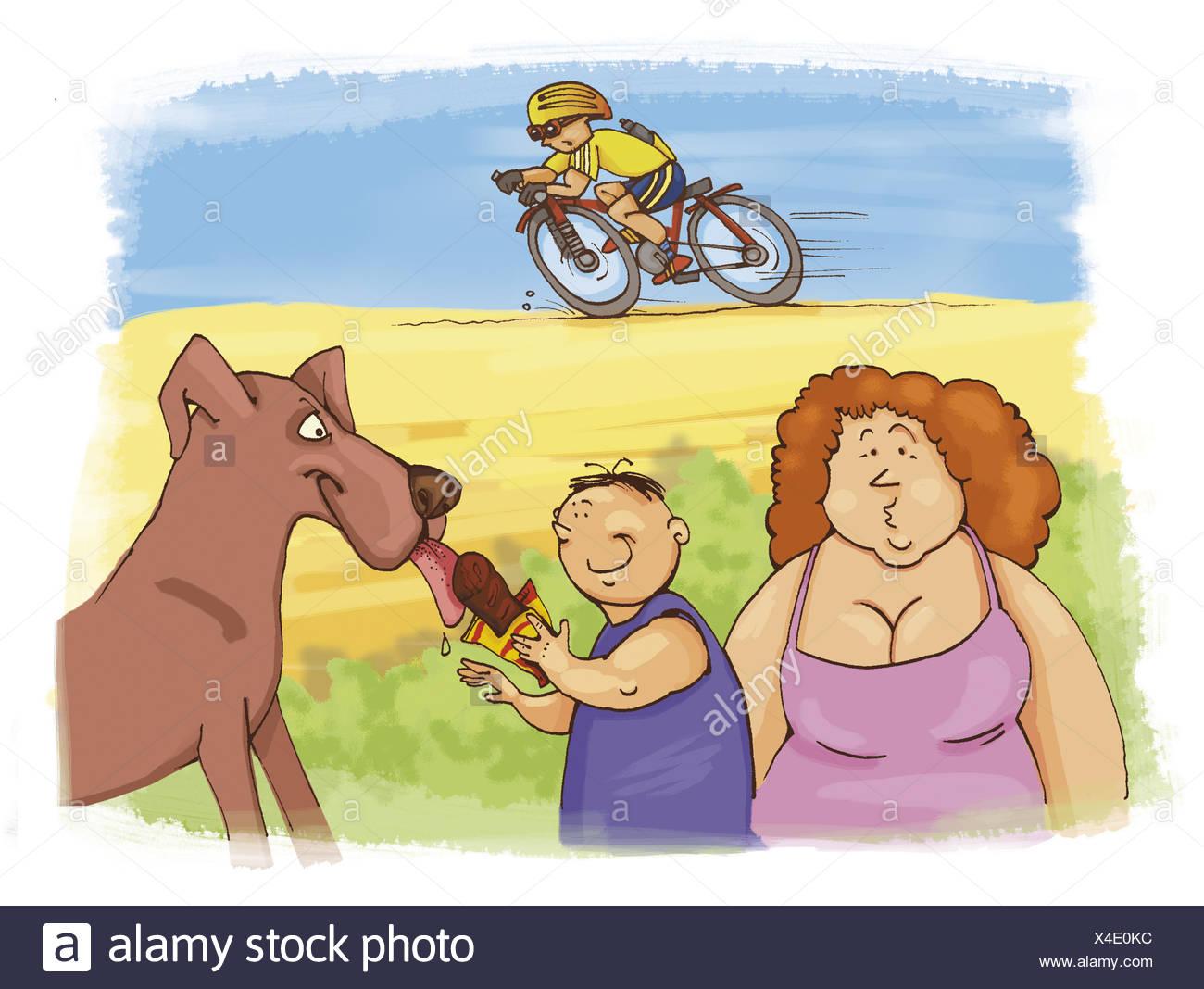White Black Art His Boy Bike Riding Clip And