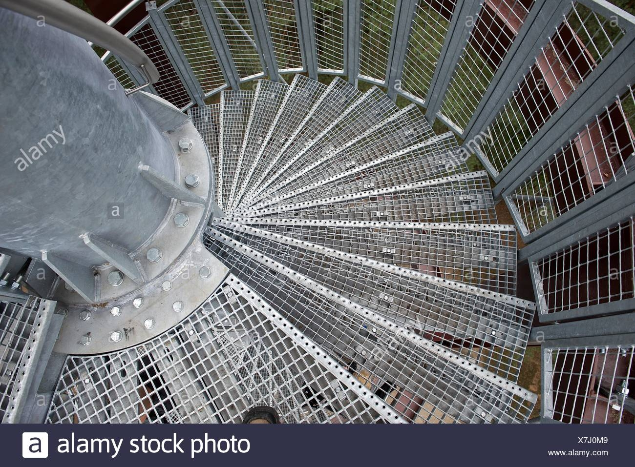 A Metal Spiral Staircase High Resolution Stock Photography And   Cast Iron Spiral Staircase For Sale   Second Hand   Used   Portable   Modular   Rod Iron