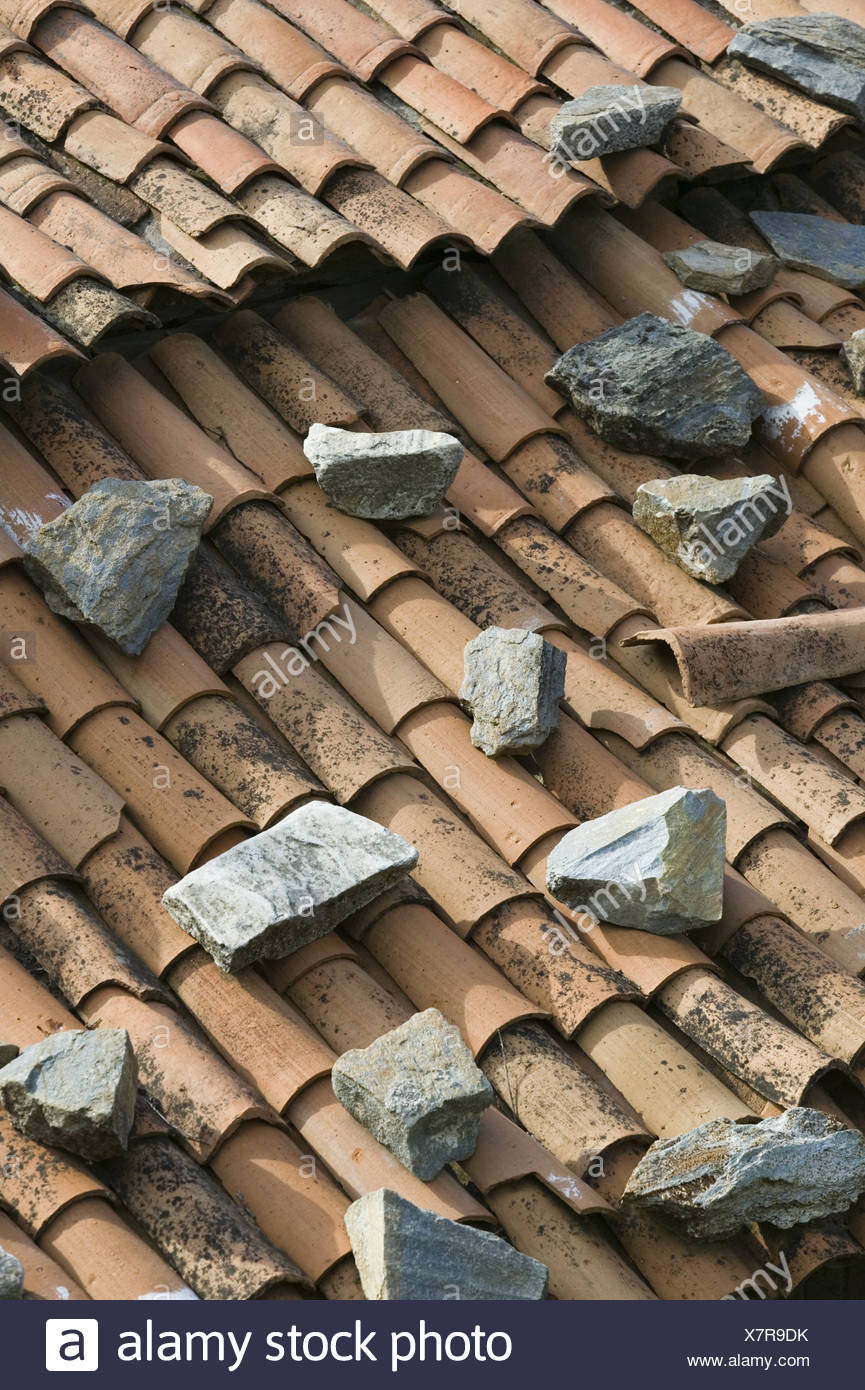 https www alamy com brick roof stones detail house house roof roof roof tiles roof covering bricks old lichens weathers loading old loading roof image280180815 html
