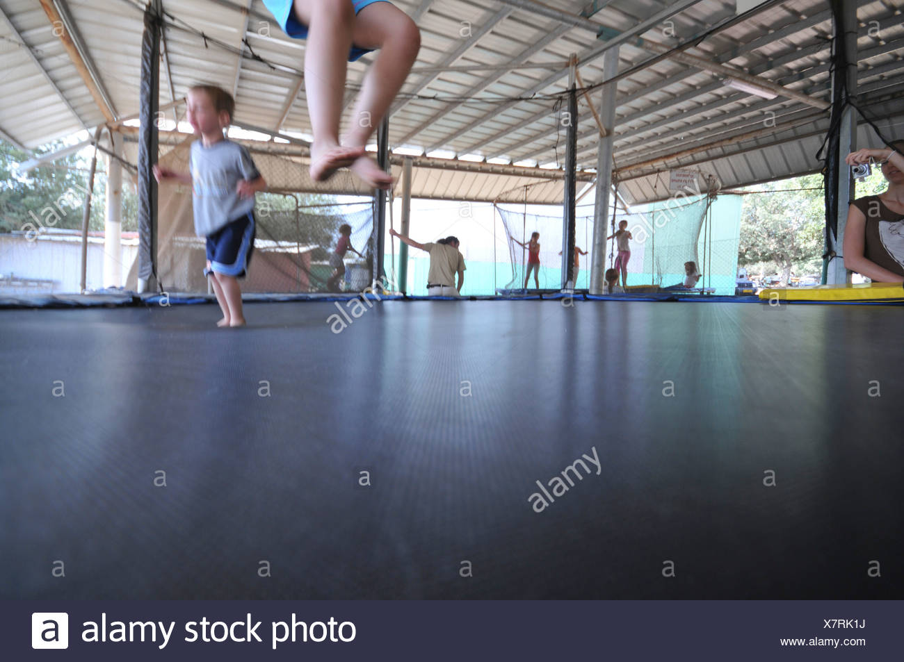 Trampoline Fitness Stock Photos Amp Trampoline Fitness Stock Images