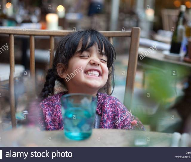 A Little Girl Playing By Herself Stock Image