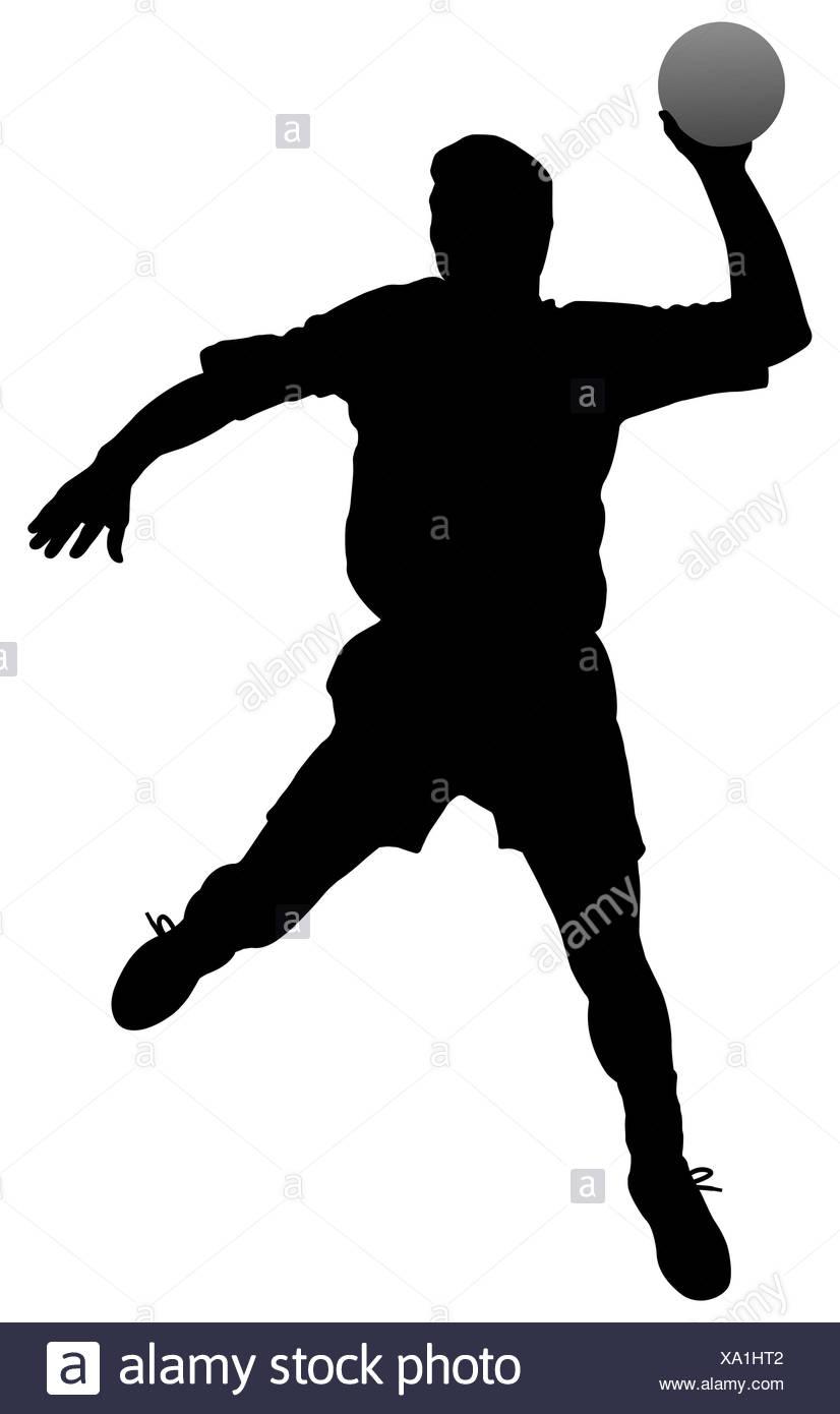https www alamy com sport sports male masculine silhouette player handball man shoot sport sports image281548402 html