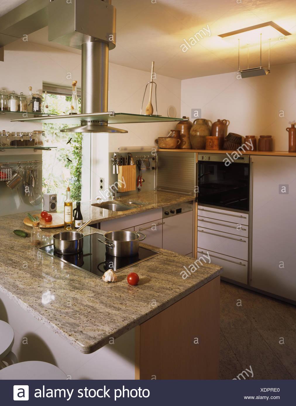 Cuisine Setup Modern Kitchen Living Room Cooking