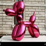 Jeff Koons Ballon Hund Skulptur Auf Dem Canal Grande Venedig Italien Stockfotografie Alamy