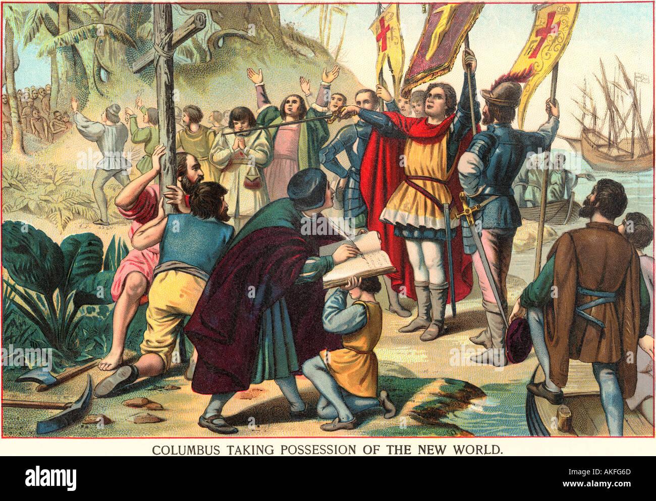 Christopher Columbus Der Inbesitznahme Der Neuen Welt Fur