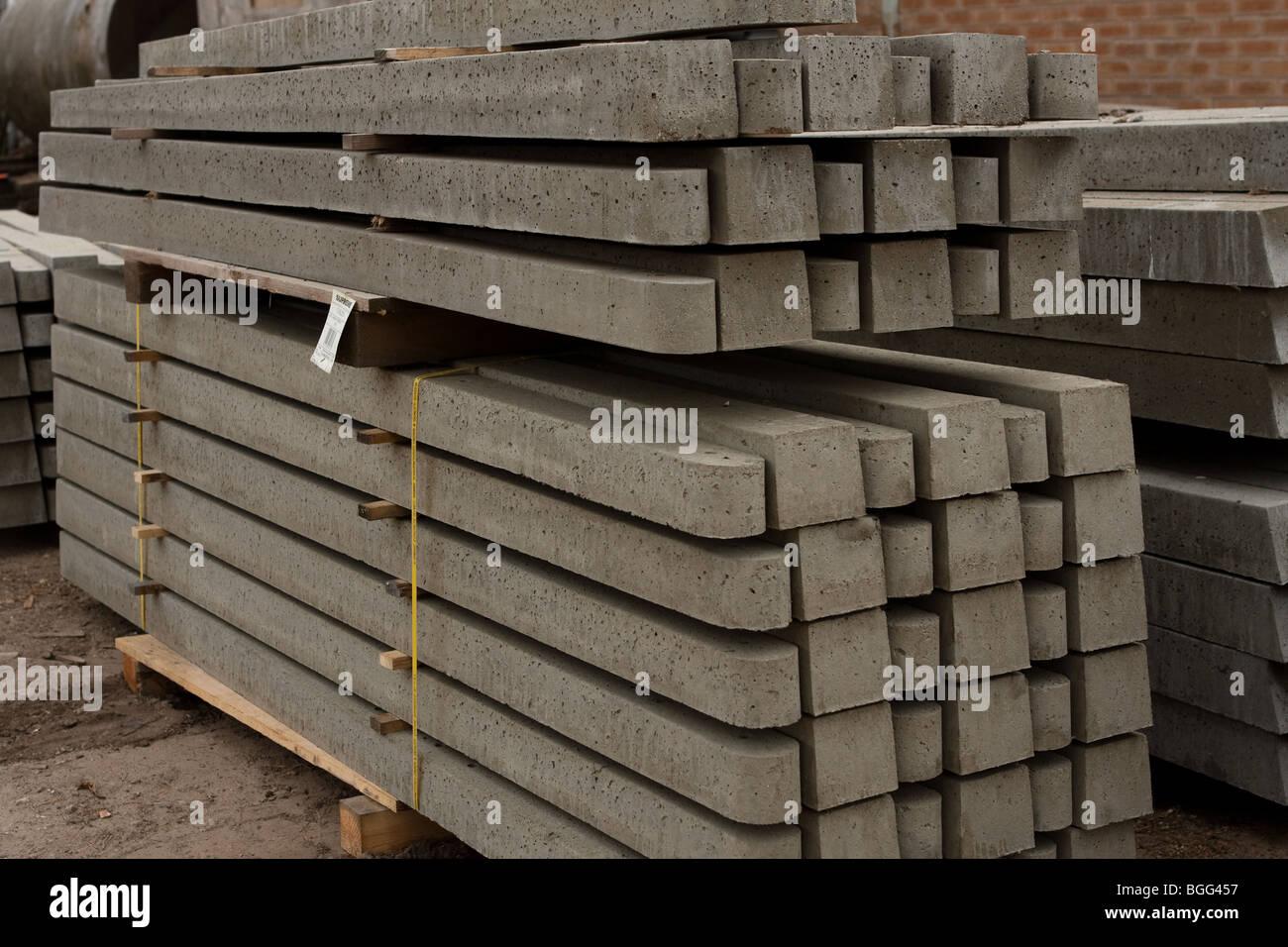 Beton Zaun Pfosten Stockfoto Bild