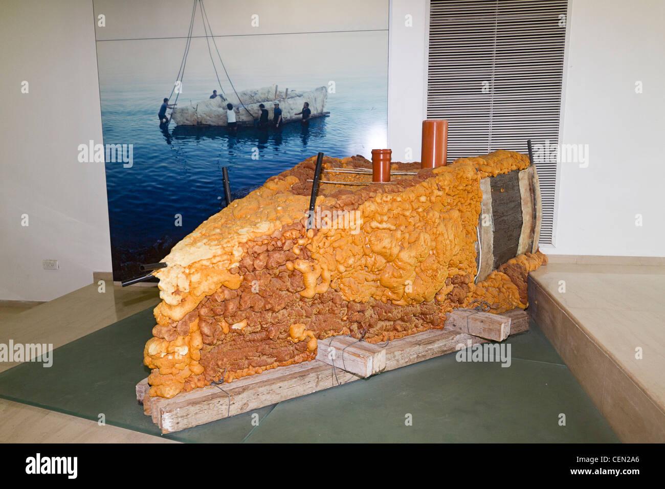 Pu Schaum Verwendet Um Alte Galilaa Boot An Yigal Allon
