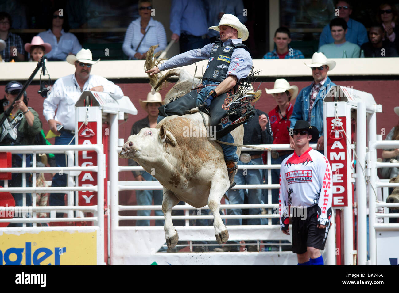 9 Juli 2011 Reitet Calgary Alberta Kanada Bull