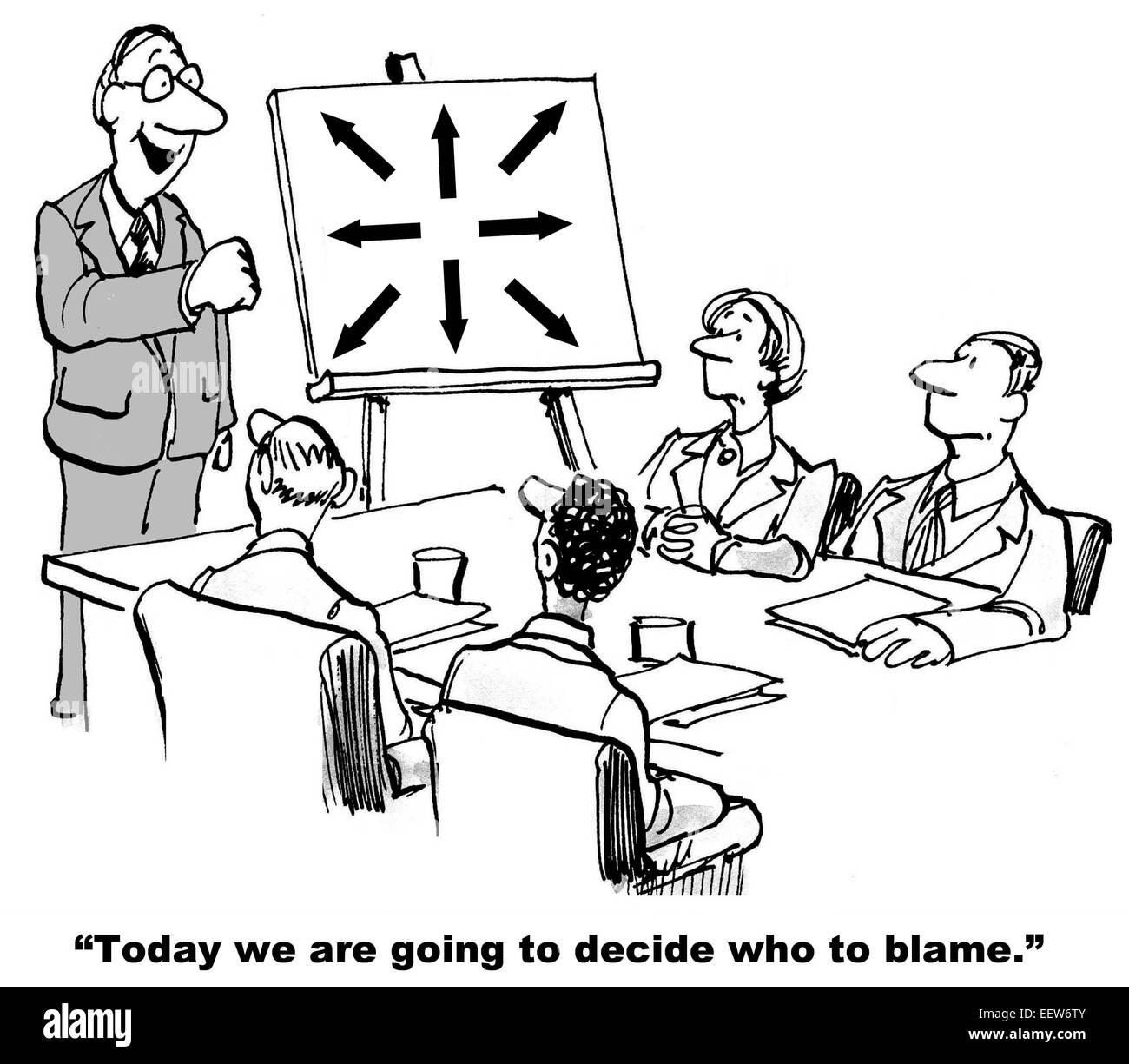 Cartoon Von Geschaftsleuten In Einem Gesprach Mit Chef