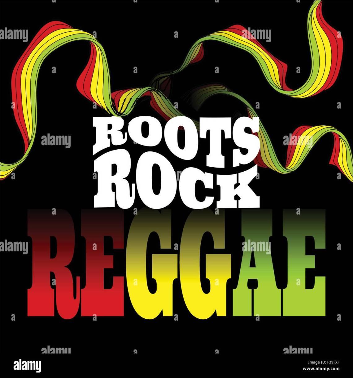 Roots Rock Reggae Musik Design Vektor Illustration