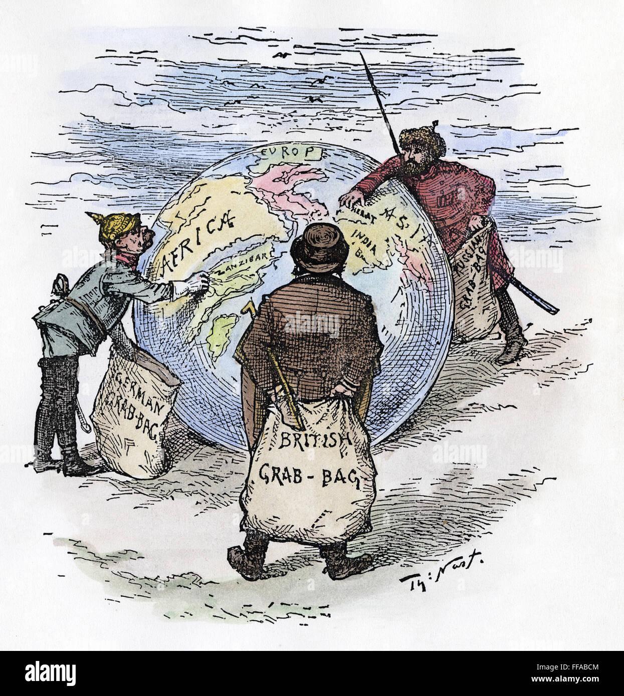 Cartoon Imperialismus Nthe Welt Plunderer