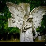 Alten Friedhof Engel Skulptur Aus Stein Stockfotografie Alamy