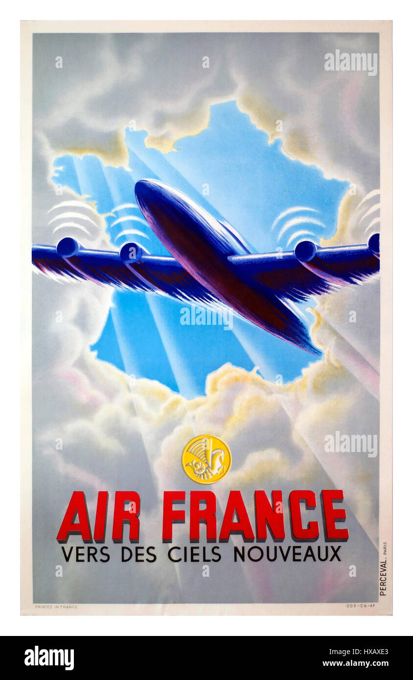 air france 1947 vintage nachkriegszeit