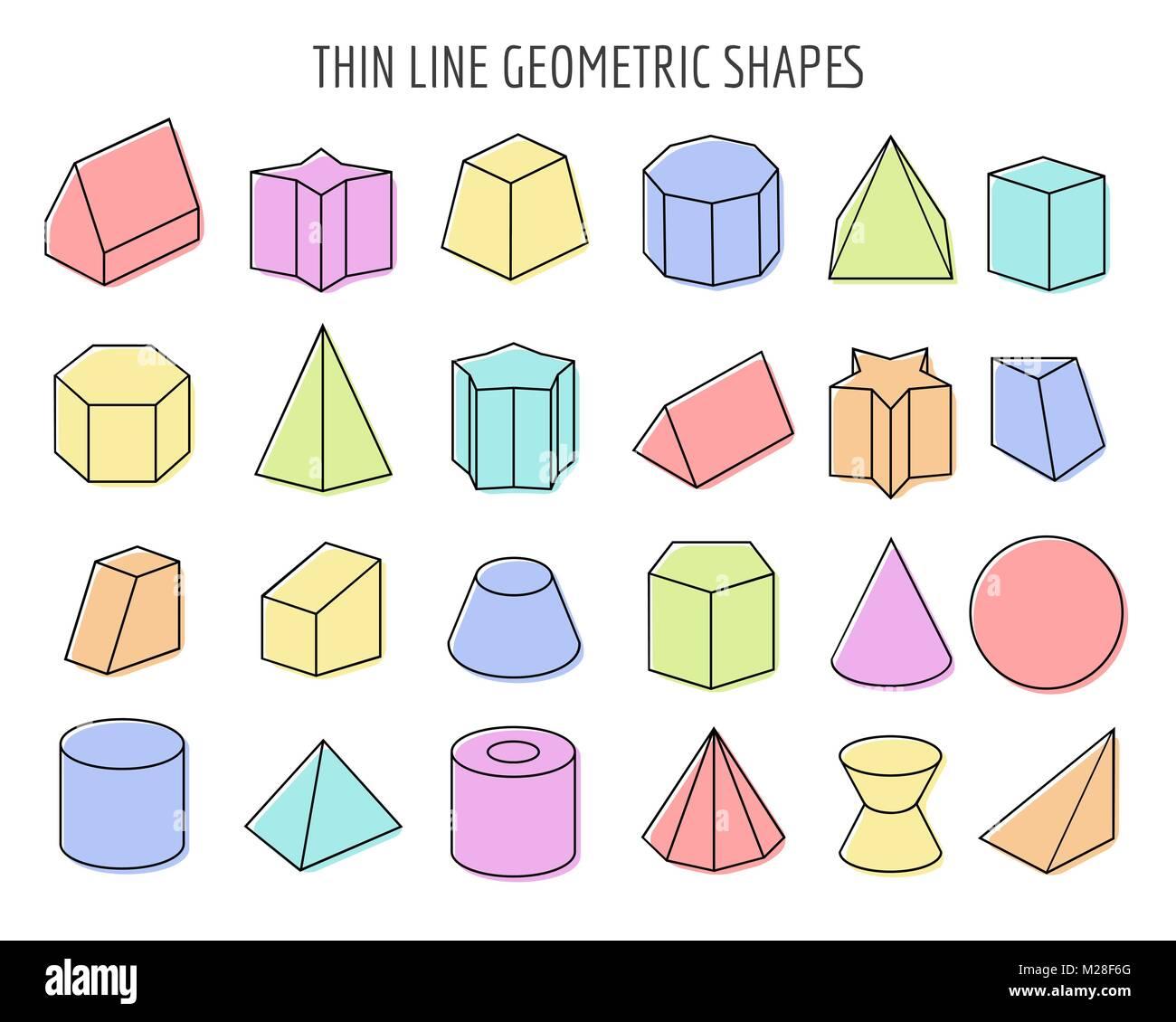 Geometrische 3d Figuren Wei Grundformen Der Geometrie