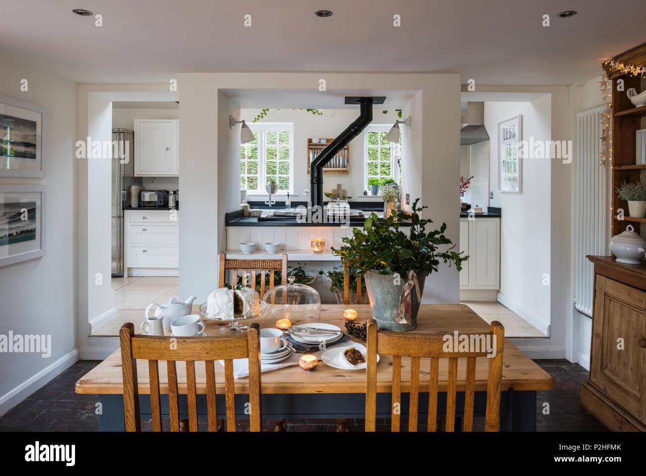 rustikal moderne kuche und essbereich im landhaus