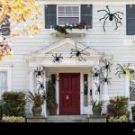 Halloween Vor Dem Haus Dekorationen Stockfotografie Alamy