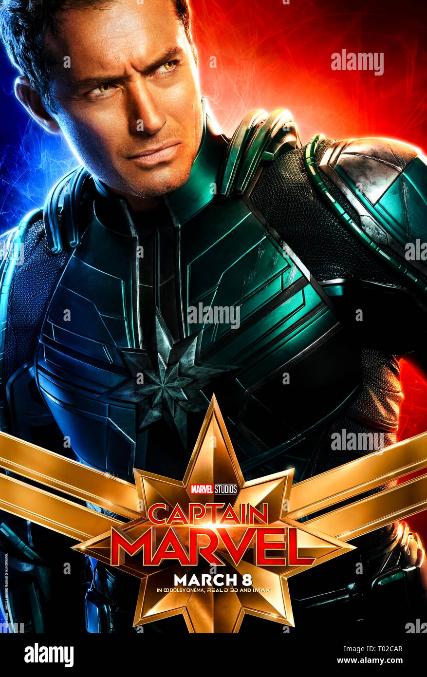 captain marvel poster stockfotos und