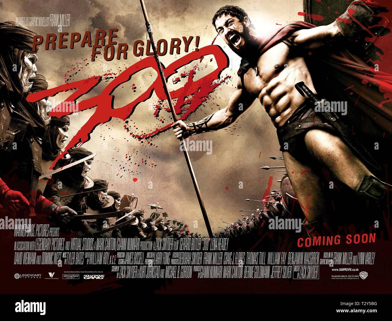 300 movie poster stockfotos und bilder
