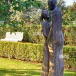 Holz Liebe Paar Skulptur Auf Der Strandpromenade Auf Der Insel Usedom Stockfotografie Alamy