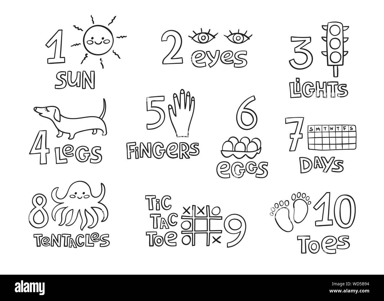 Zahlen Und Zahlen Praxis Druckbare Poster Arbeitsblatt