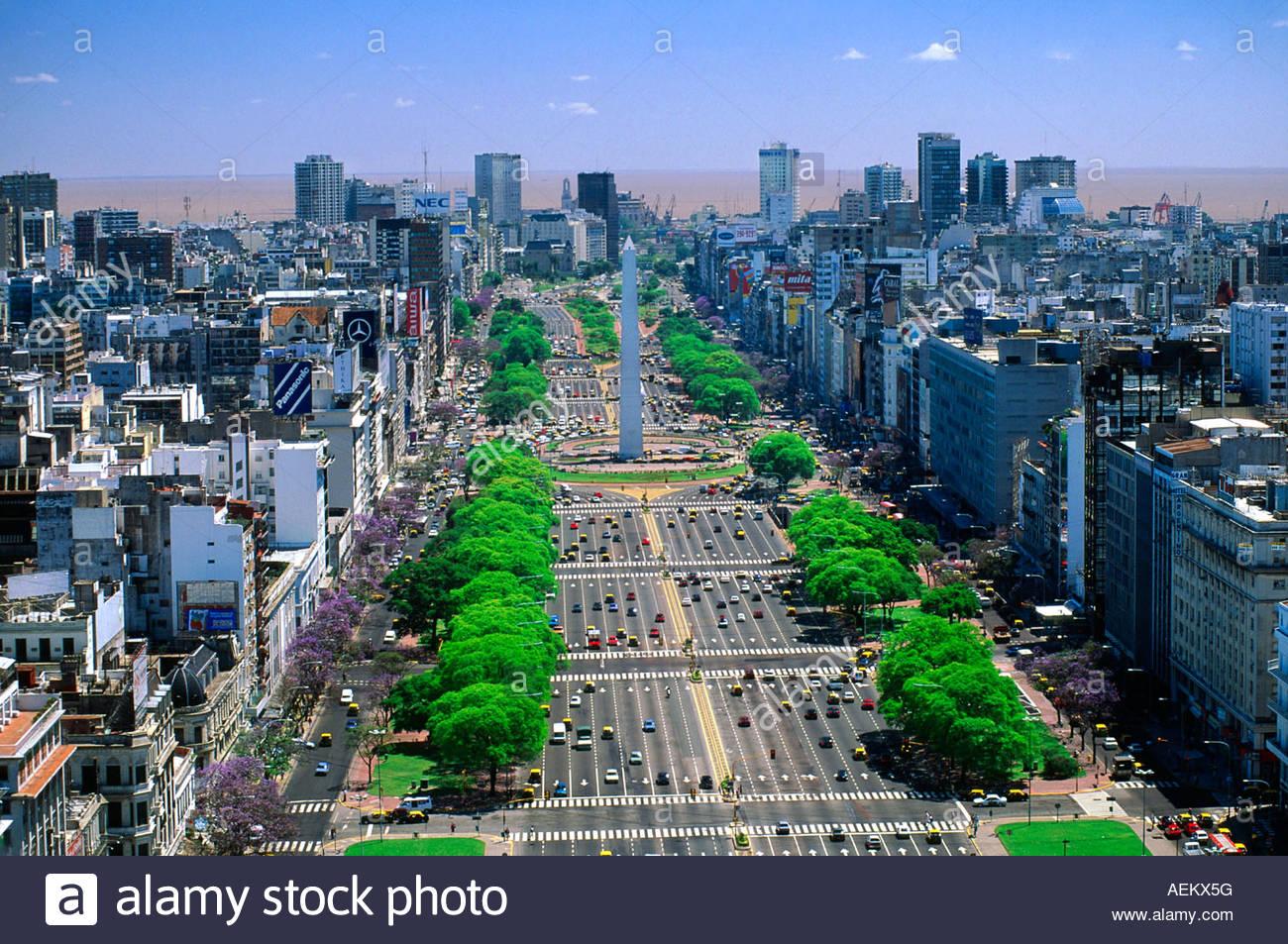 Aires Argentine Du La Large Route De Monde Plus La Julio Buenos 9