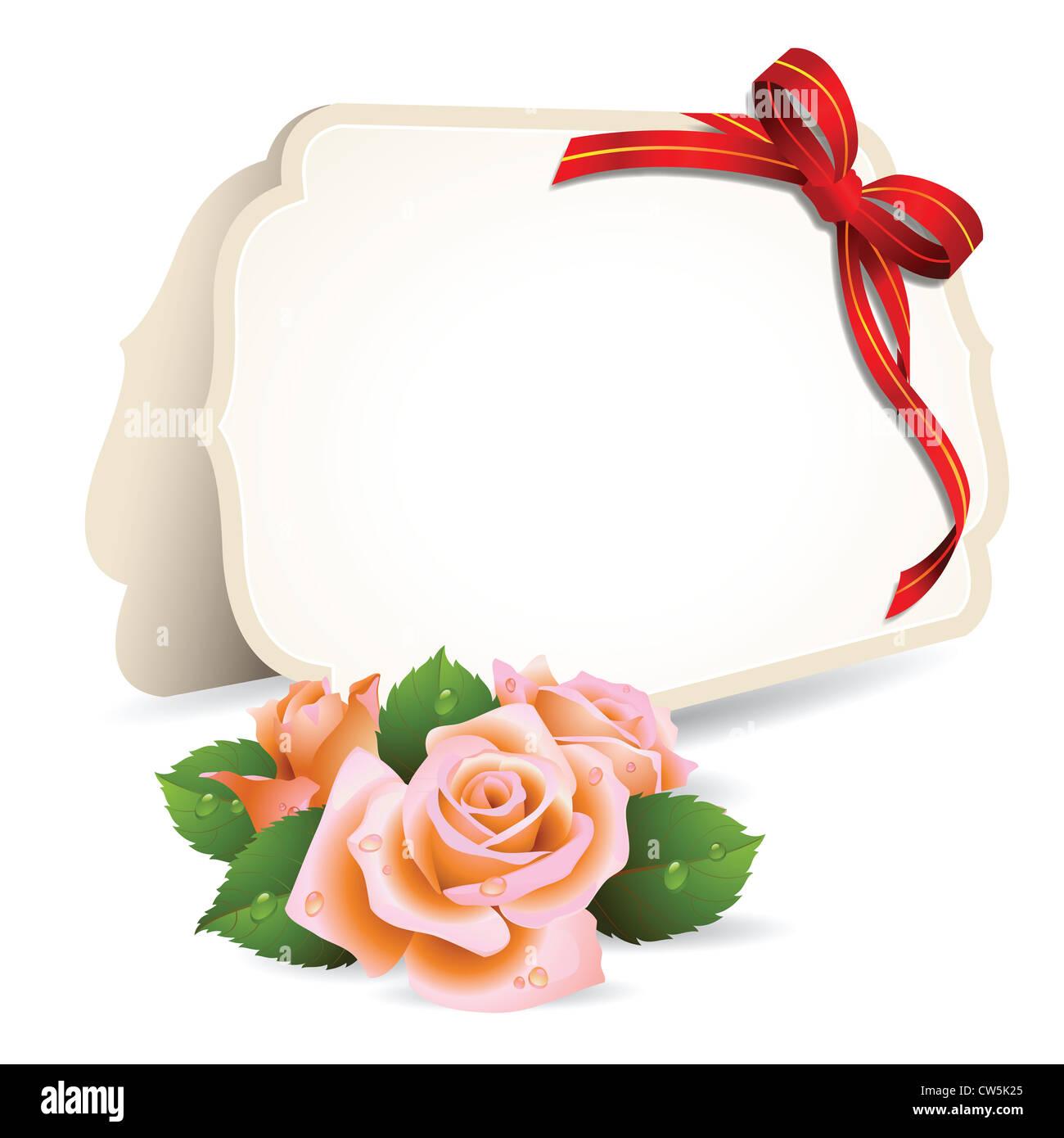 https www alamyimages fr photo image carte d invitation vierge et roses sur fond de 49911853 html
