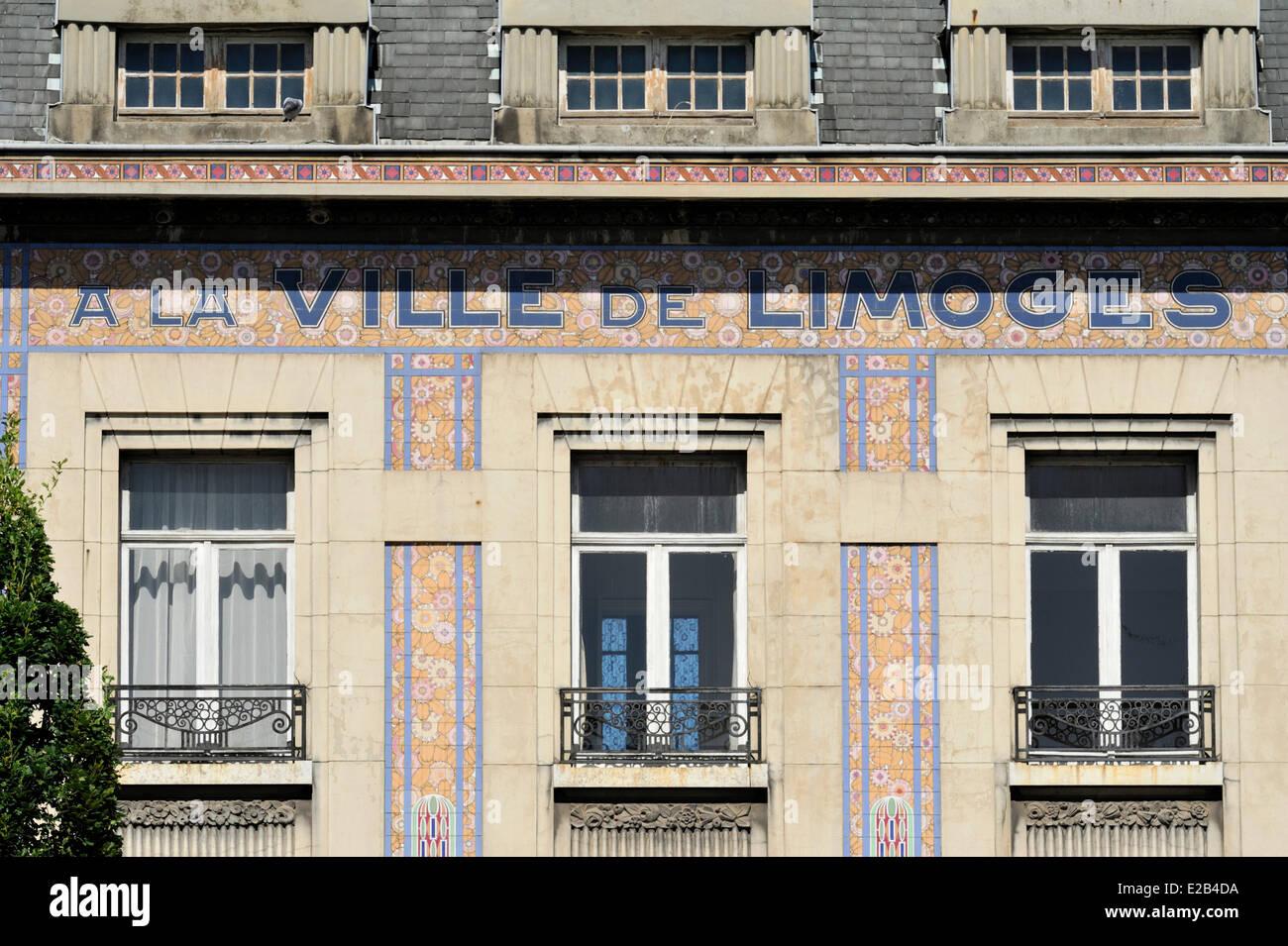 https www alamyimages fr photo image la france pas de calais lens facade art deco du magasin de meubles a la ville de limoges 70315766 html