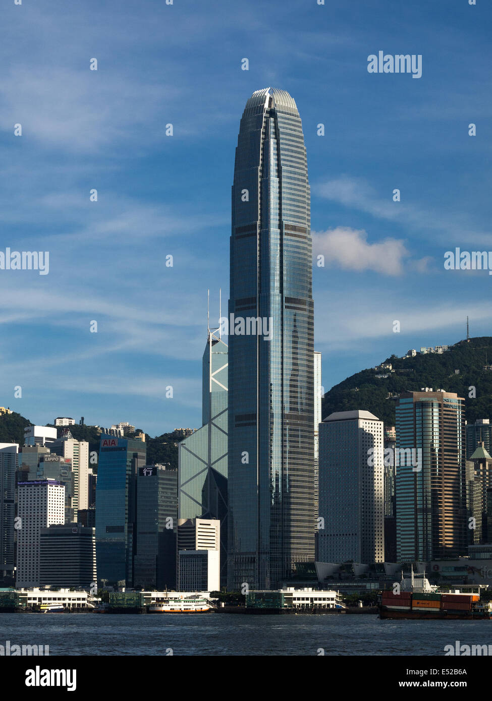 IFC Tower 2, International Finance Centre Hong Kong Central Banque D'Images, Photo Stock: 71967458 - Alamy