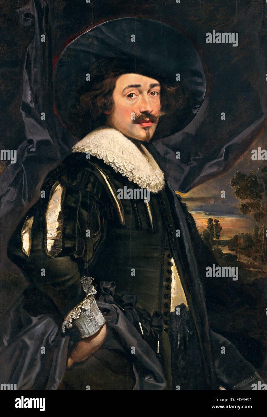 https www alamyimages fr photo image 17eme siecle flamand jan cossiers peut etre portrait d un homme dans un wide brimmed hat debut annees 1630 huile sur panneau 77438285 html