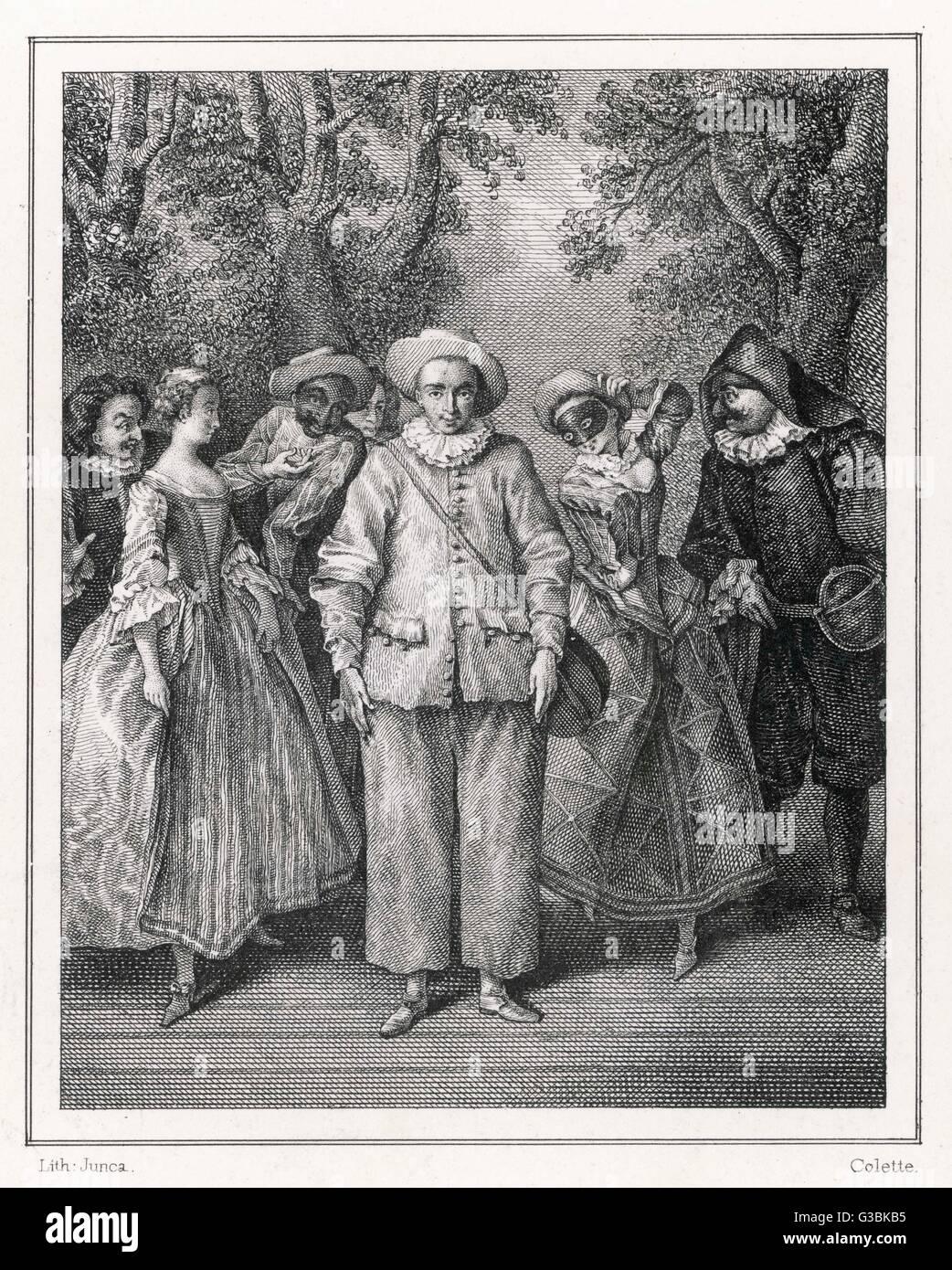 https www alamyimages fr photo image les personnages de la commedia date debut du 19eme siecle 105362857 html