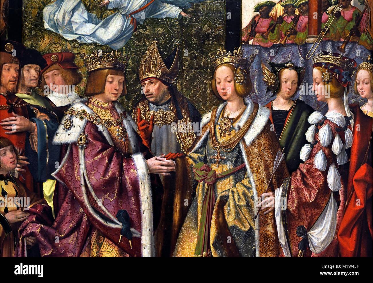 https www alamyimages fr photo image sainte ursule et prince etherius faire un voeu solennel a l autre 1522 1525 maitre inconnu atelier lisbonne panneau a partir de l auta retable maitre de l auta retable 16e siecle portugais portugal 173270427 html