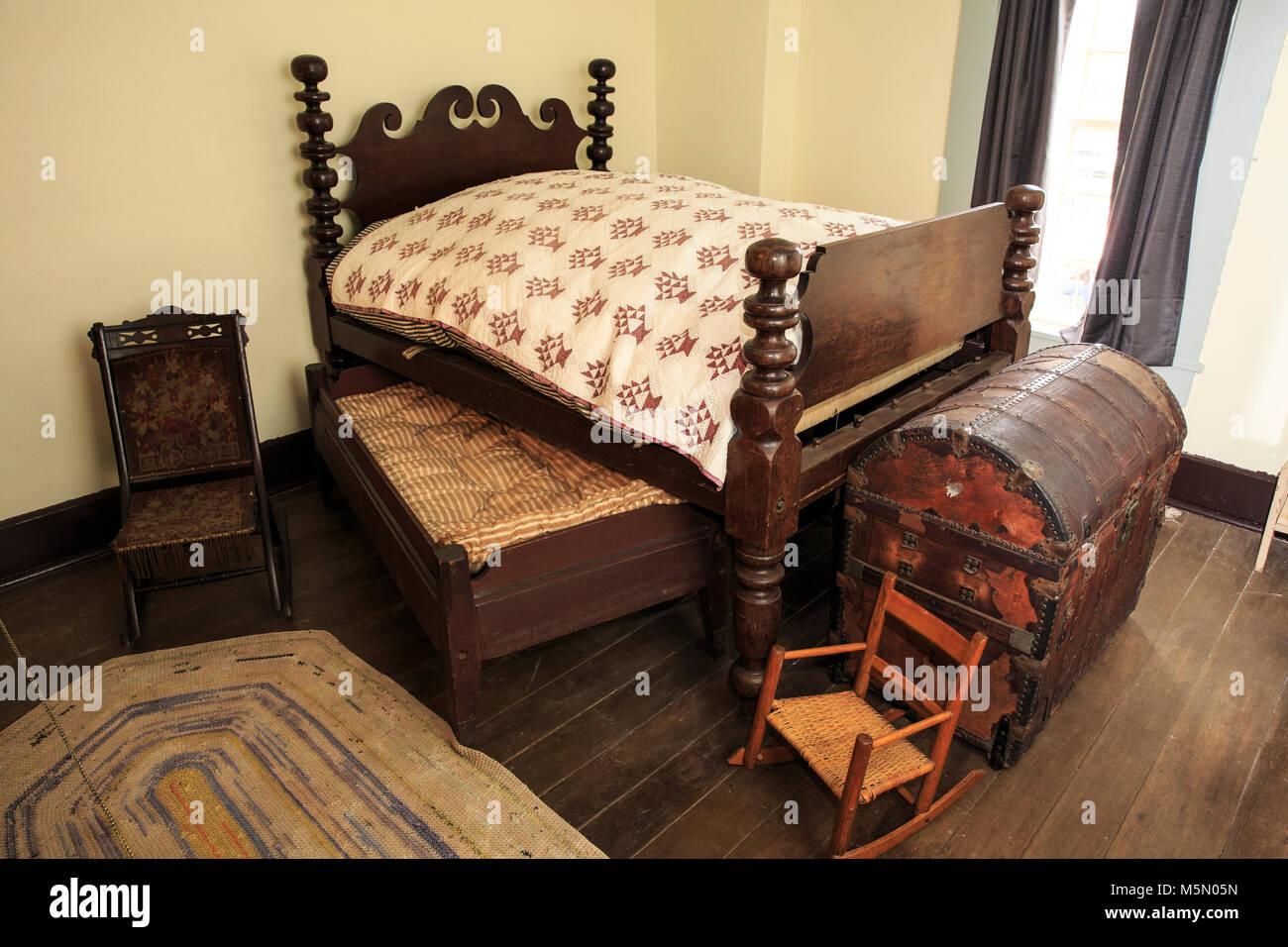 https www alamyimages fr photo image 19 eme siecle lit dans un musee hueston woods state park 175638113 html
