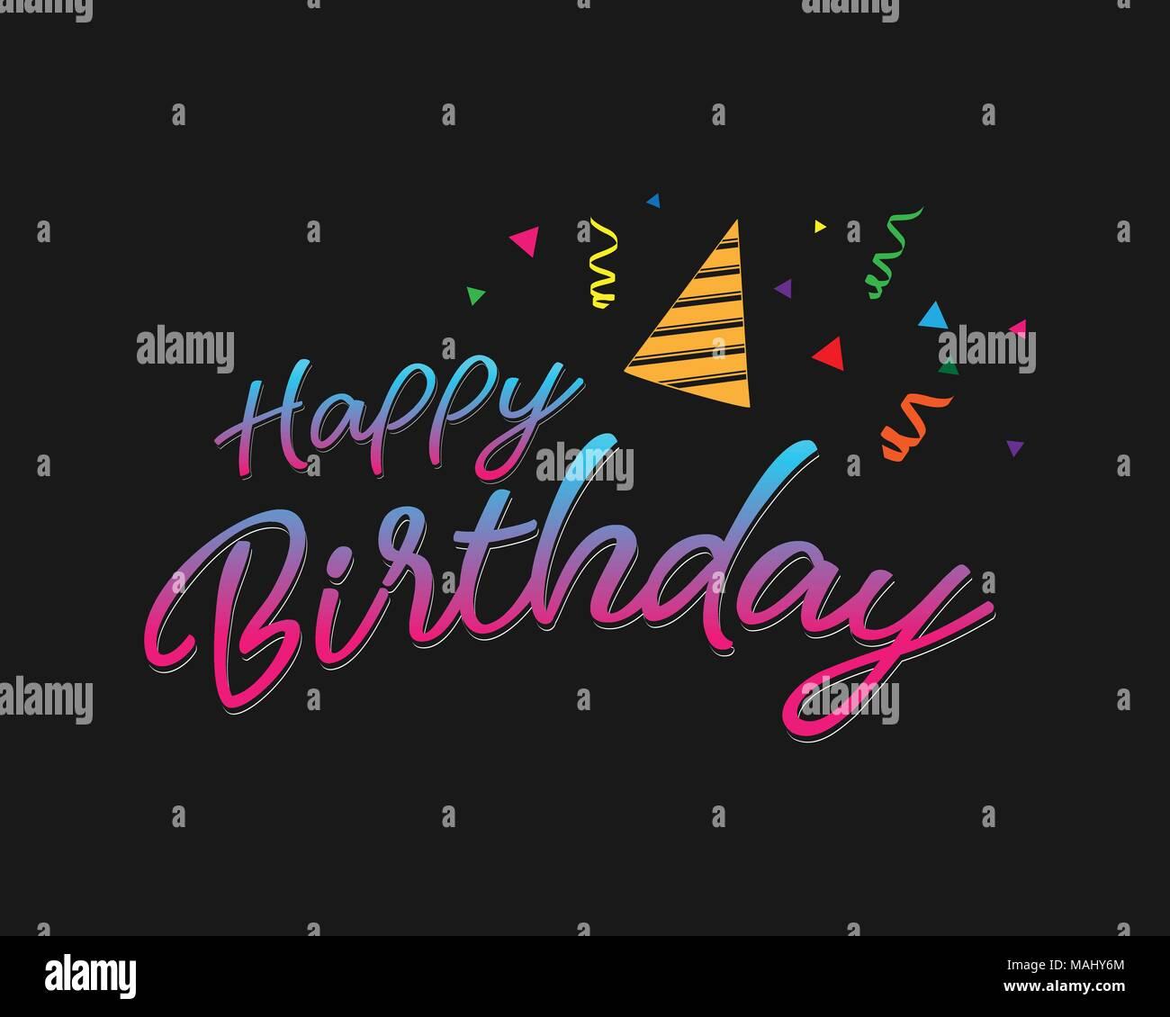 https www alamyimages fr joyeux anniversaire colore typographiques pour la conception graphique de l affiche banniere modele carte d anniversaire carte d invitation ou de voeux vector illustration image178644780 html