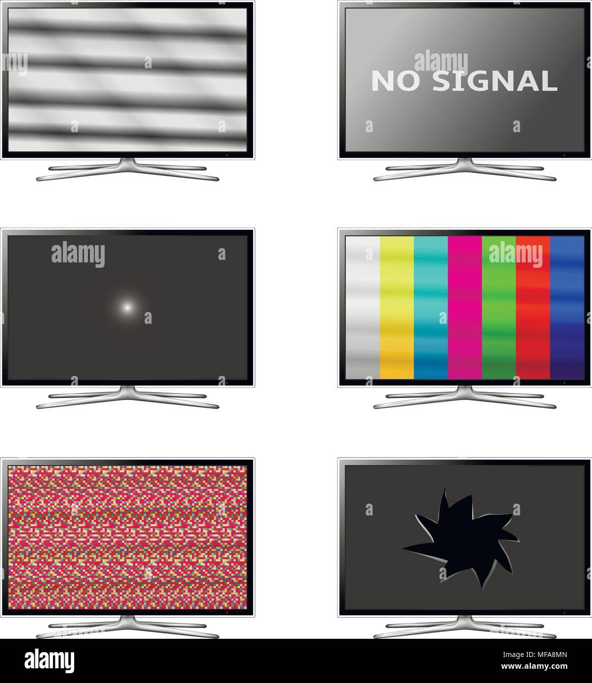 https www alamyimages fr television ecran plat smart set pas de signal de tv vector eps10 image181549893 html