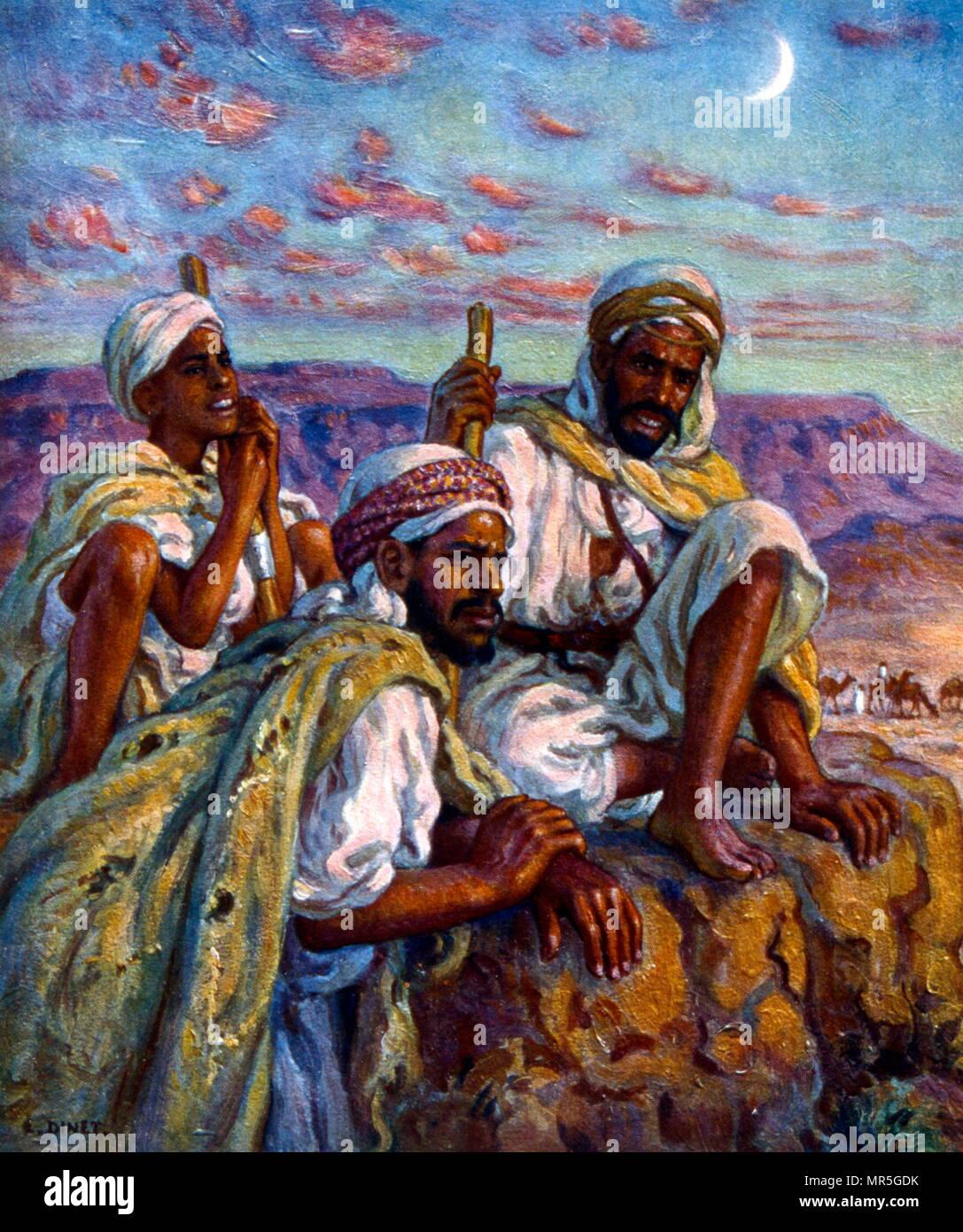 https www alamyimages fr groupe des bergers arabes par nasreddine dinet alphonse etienne dinet 1861 1929 un peintre orientaliste francais 1918 image186363455 html