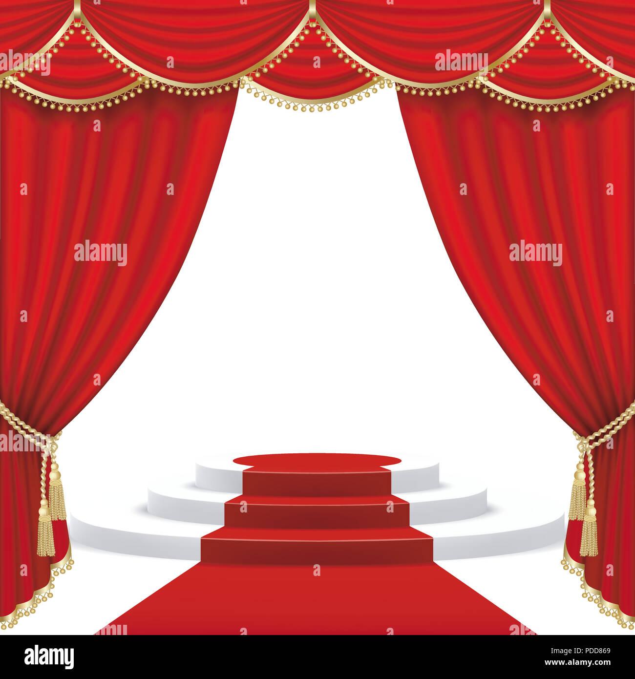 https www alamyimages fr scene de theatre avec rideau rouge masque de decoupe mesh image214806769 html