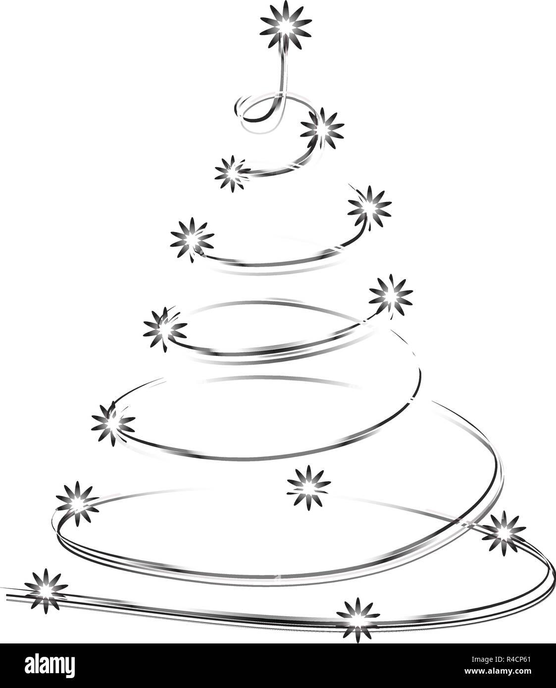 https www alamyimages fr forme d arbre de noel de l etoile brillante silhouette faite arbre genealogique neon vecteur isole sur fond blanc arbre de noel pour concevoir carte invitation imprimer image226474249 html