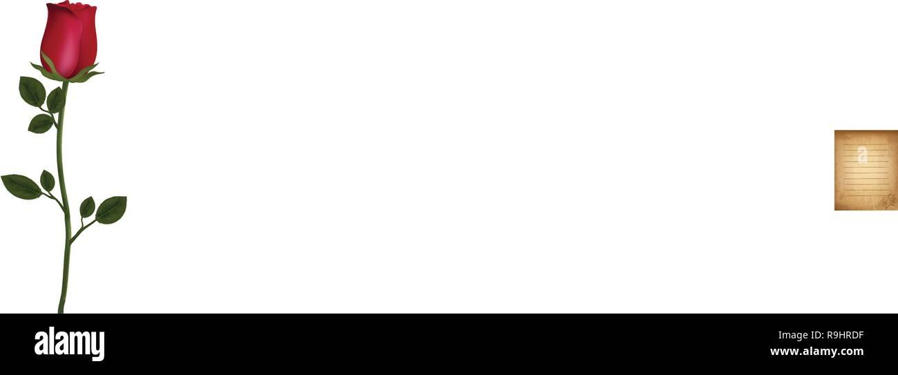 https www alamyimages fr vieux grungy vintage vierge bordee avec de belles fleurs rose imprimer dans le coin modele d usure pour le courrier electronique le message d invitation cartes postales papier a lettre de image229658283 html