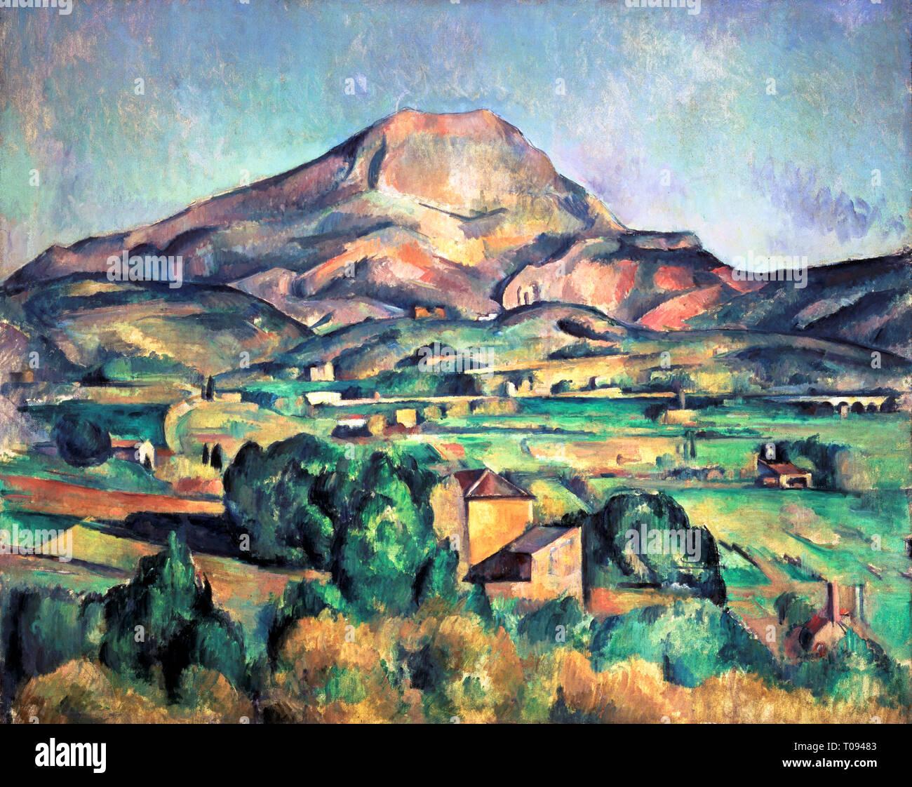 https www alamyimages fr paul cezanne la montagne sainte victoire vue de bellevue peinture 1885 image241146083 html