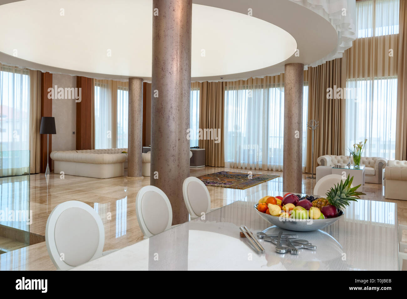 maison de luxe interieur salon burnsocial