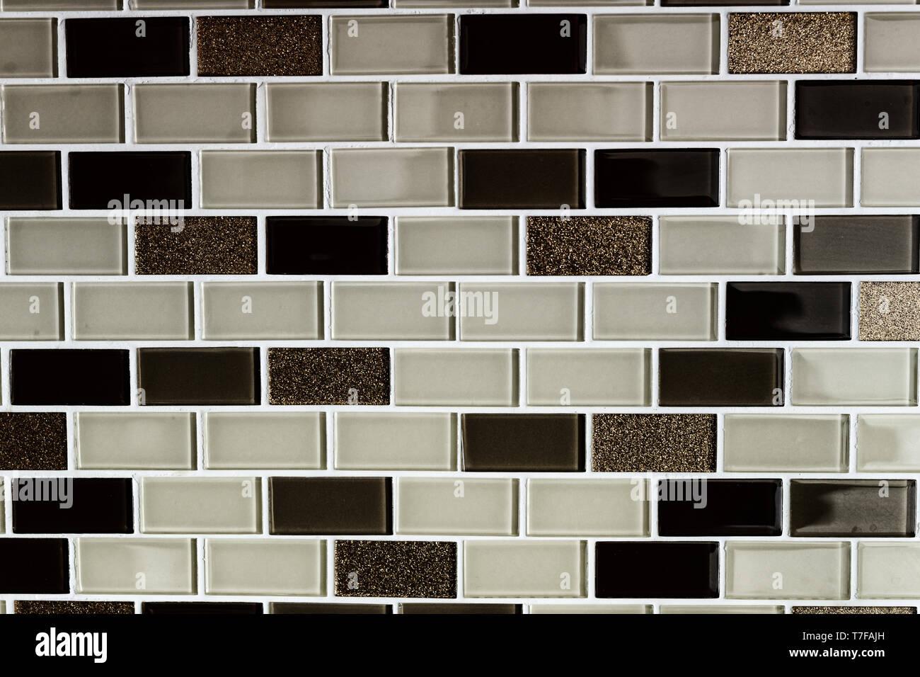https www alamyimages fr tons noir blanc marron carrelage mural cuisine modele texture background close up image245585385 html