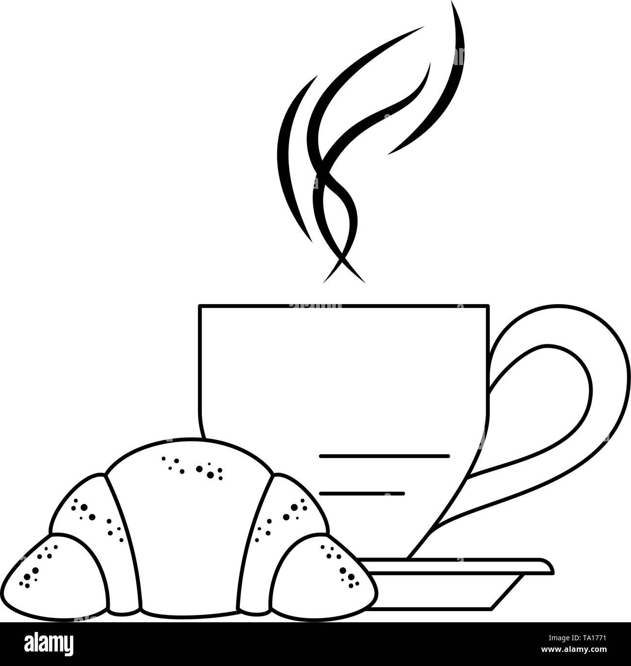 https www alamyimages fr petit dejeuner matin caricatures alimentaire en noir et blanc image247119349 html