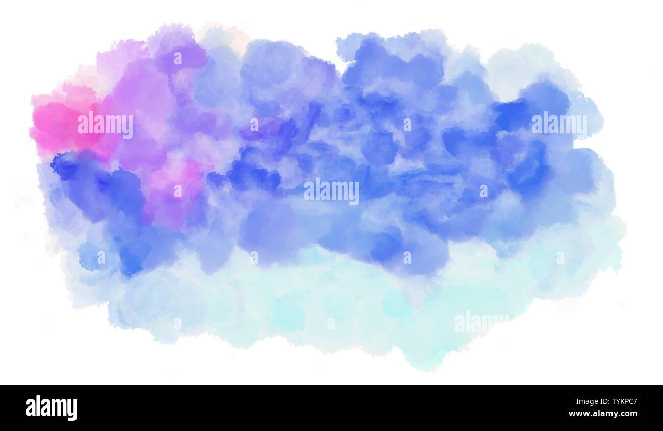 https www alamyimages fr pastel aquarelle violet lavande et fleur de mais couleur bleu fond graphique illustration peinture image257975543 html